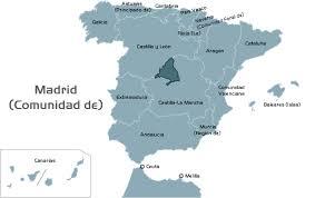Mapa de España y Comunidad de Madrid