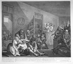 Grabado de William Hogarth del Bethlehem Hospital