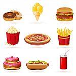 iconos de comida basura