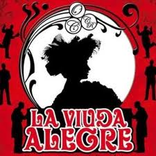 cartel de la opereta La Viuda Alegre
