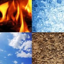 fuego, tierra, agua, aire