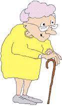 dibujo de una anciana