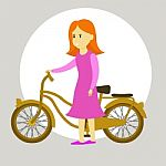bicicleta y niña