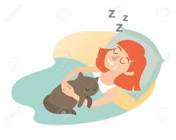dibujo de chica durmiendo