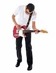 joven con guitarra