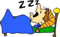 dibujo de hombre durmiendo