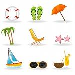 dibujo de iconos de vacaciones