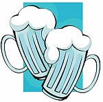 dibujo de dos jarras de cerveza