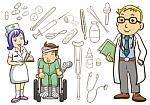 dibujo de niño en hospital