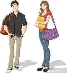 dibujo de pareja joven
