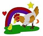 gallina y pollito