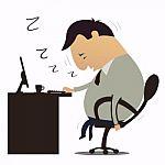 dibujo de hombre dormido