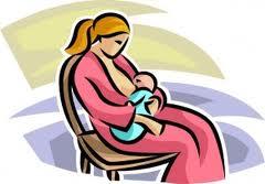 Dibujo de una madre amamantando
