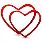 Silueta de dos corazones