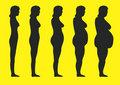 siluetas de mujeres